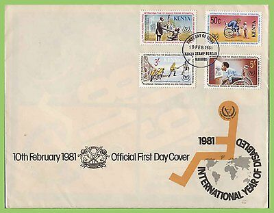 Kenya 1981 Year of Disabled set on First Day Cover