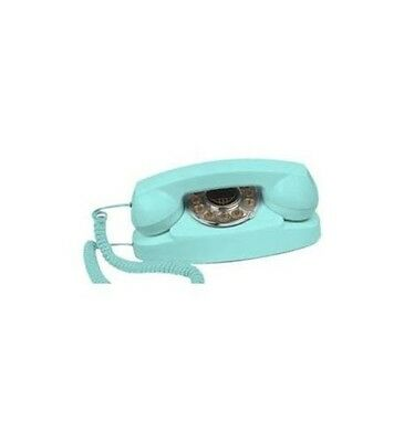 Turquoise Princess Vintage Phone Rotary Push Button Novelty Corded Telephone