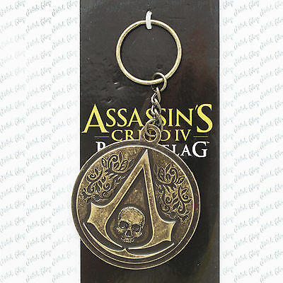 portachiave assassin's creed IV 4 black flag metallo game nuovo gadget cosplay