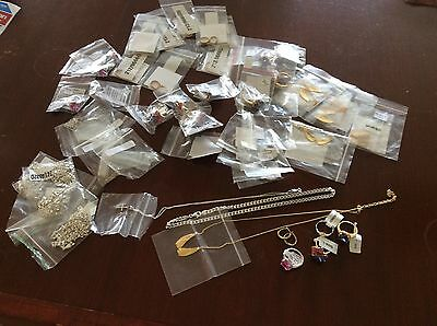 Large Job Lot 9ct Gold And 925 Silver Jewellery