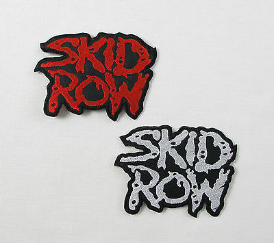 SKID ROW Embroidered Iron On Sew On Patch Metal Band 2 Colours