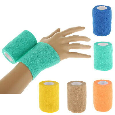 7.5cm Sports Injury Care Elastic Cohesive Bandage Tape First Aid Strapping Band
