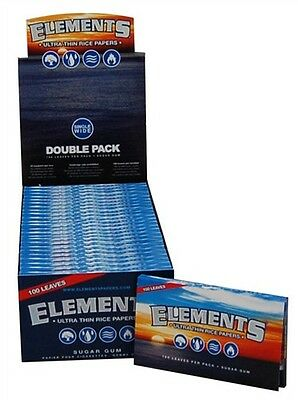 1 Pack - Elements - Single Wide - Ultra Thin Rice Rolling Papers