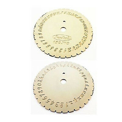 Letter Type Dial Disc, Modern Continous Script For Jewelry Inside Ring Engraving