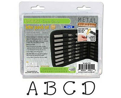Dots Letter Set Uppercase Punch Stamp 27Pc Set W/case (3Mm) Beadsmith