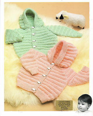 Baby jacket with hood dk knitting pattern 177