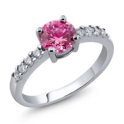 Ring With Round Pink Cubic Zirconia