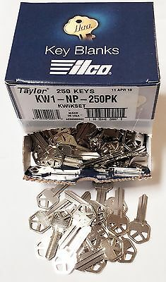 Taylor KW1 Nickel Key Blanks