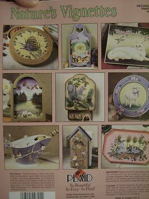 Nature's Vignettes Painting Book-Poole-Squirrel/Bunnies/Beehive/Lamb/Ducklings/C