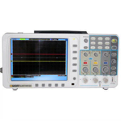 "OWON 100Mhz Oscilloscope SDS7102V 1G/s 8"" LAN VGA 4000mAH battery+bag+leads"