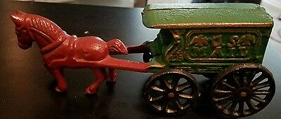 Horse Wagon U.S. Mail Cast Iron