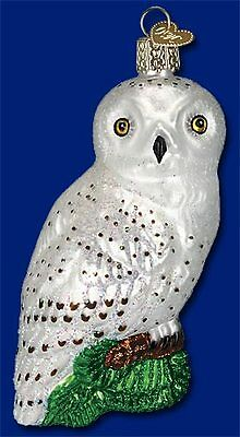 """Great White Owl"" (16079) Old World Christmas Glass Ornament"