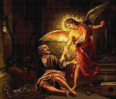 Hudemas Peter Released By Angel Petit Point KIT #175 -23x25 cm (9x9.75 Inches)