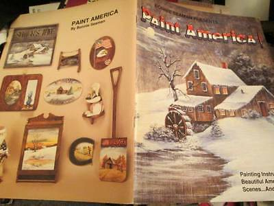 Paint America Painting Book -Seaman Autographed-Sceneries/Buildings/Animals