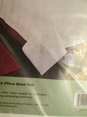 Herrschners Bristol Candlewick Pillow Sham Pair To Embroider/Candlewicking-21x30