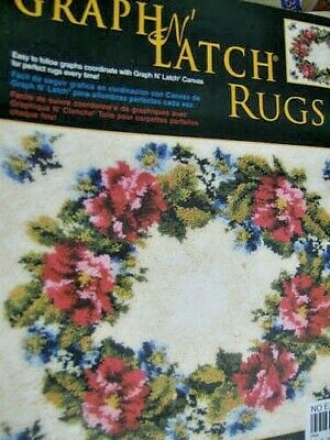 Graph N' Latch Rugs CHART Your Choice Floral Wreath OR Hummingbird
