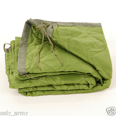 Genuine US Army Poncho Liner Blanket Quilted GI Travel Sleeping Warm Lightweight