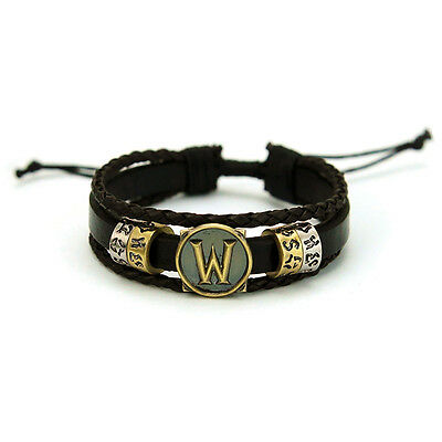 World of Warcraft Metal leather Retro Woven Animation Bracelet Adjustable Ring