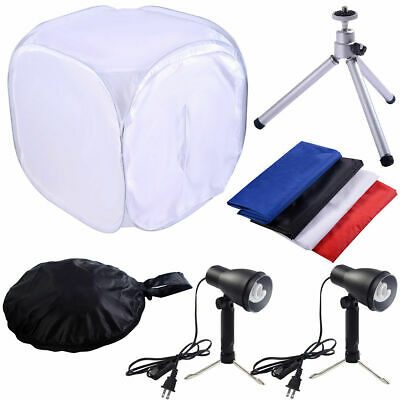 24'' Photo Photography Softbox Kit Studio Shooting Tent Light Cube w/ Tripod