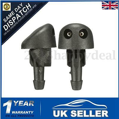 2PCS Front Windscreen Washer Jet Nozzle Water Spray Jets For RENAULT Clio MK2
