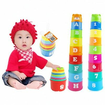 A Set Of Stacking Cups Sets Baby Early Education Alpinia Oxyphylla Toys New