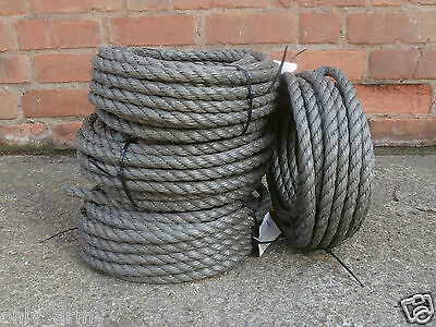 16MM X 15M Heavy Duty Military Issue Rope General Purpose Danish Army Surplus