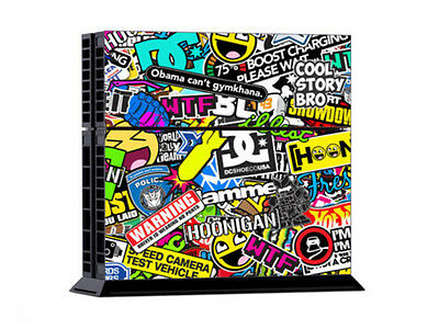 BOMB Bombing Graffiti Sticker Skins For Sony PS4 Console 2 Controller