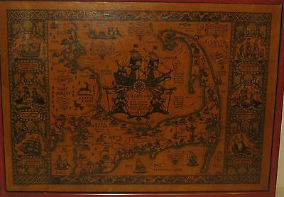 Original Vintage 1930 Coulton Waugh *map Of Old Cape Cod* Pictorial Map - Rare