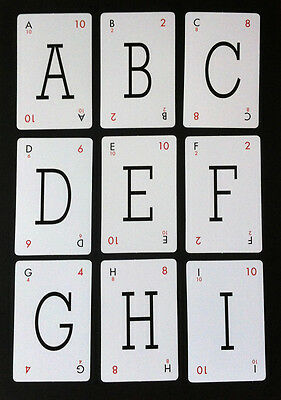 Lexicon Style Vintage Playing Cards - Choose Your Letters - Pick & Mix