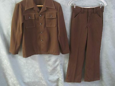 VTG 70's Boys Polyester Leisure Suit Size 14