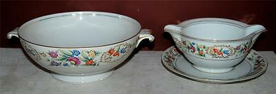 Vintage Lot 0F 2 Meito Ivory China Gravy Boat Serving Bowl Occupied Japan  ~Ss2~
