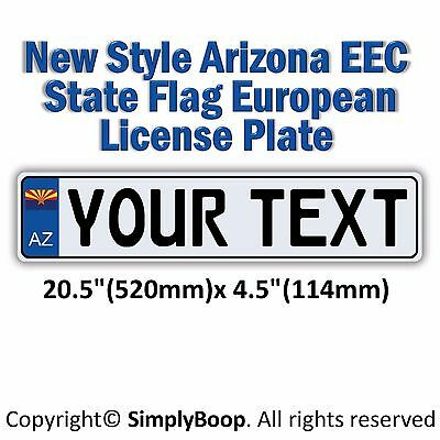 Arizona Flag Style European Aluminum License Plate Custom Personalized New Cool