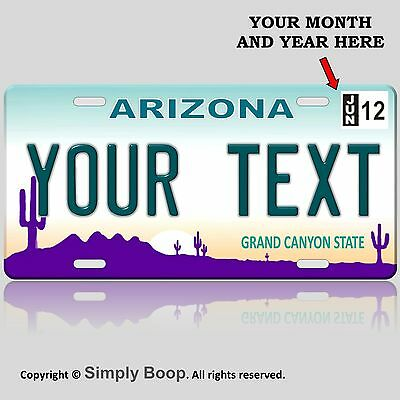 Arizona State License Plate Tag Personalized Custom The Grand Canyon State NEW!