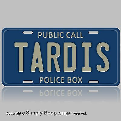 """Tardis Doctor Who Car Automobile Vanity Tag Aluminum License Plate 6"""" x 12"""""""