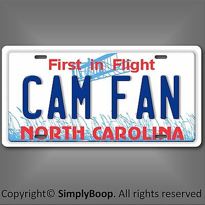 Cam Newton Fan Carolina PANTHERS NFL NFC North  State License Plate Tag New