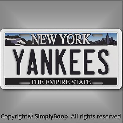 New York Yankees Aluminum License Plate Tag Baseball 1