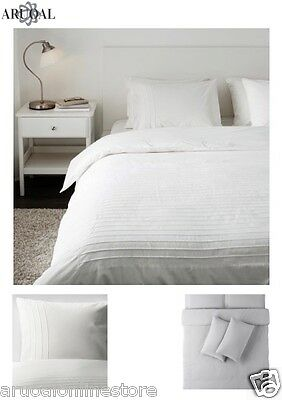 IKEA ALVINE STRÅ Quilt Cover Set With Pillowcases 150X200/200X200/240X200 STRA