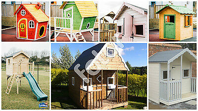 Wooden Childrens playhouse outdoor fun,climbing frame ,colourful,painted,steined