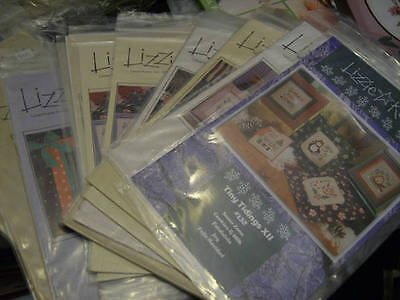 Lizzie Kate Cross Stitch CHART Your Choice- (Tiny Tidings)