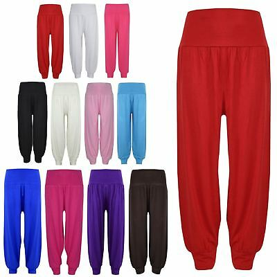 Kids Girls Ali Baba Harem Trouser Plain Color Fashion Trendy Leggings 2-13 Years