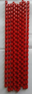 8mm Red Binding Combs 21 Rings For Comb Binder Machines  10x