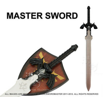 1:1 Full SIze Dark Link's Master Sword from the Legend of Zelda with Plaque New