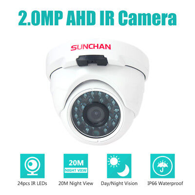 SUNCHAN 1080P Indoor 2MP Dome Metal Day Night 3.6mm IR CCTV AHD Security Camera