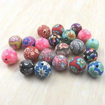 500pcs Multicolor 14mm Polymer Clay Spacer Beads DIY Loose Beads
