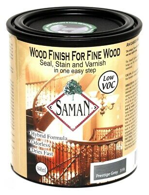 Saman Products Sam-319-1l 946 Ml Prestige Gray Wood Finish Se,No SAM-319-1L