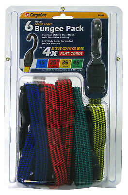 Allied International 32407 Flat Bungee Pack 6 Count,No 32407