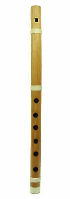 Traditional Indian Brown Handmade Bamboo Flute Wooden Bansuri Musical Instrument
