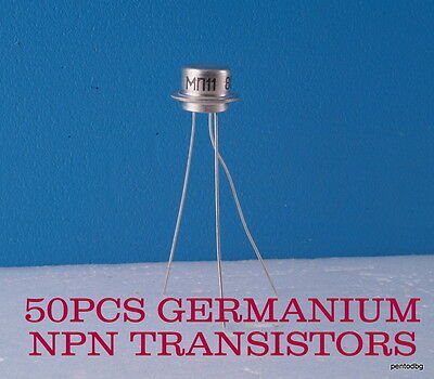 50 Germanium Transistors Npn  Mp11/мп11/ Military In   Original Box