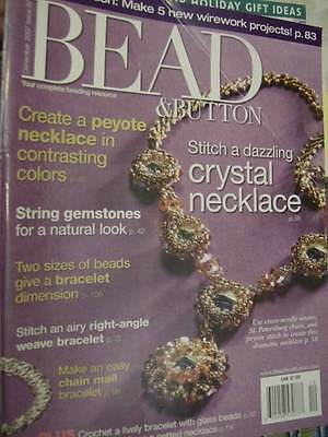 Bead & Button December 2007 Magazine -Crystal Necklace/Peyote Necklace/Chain