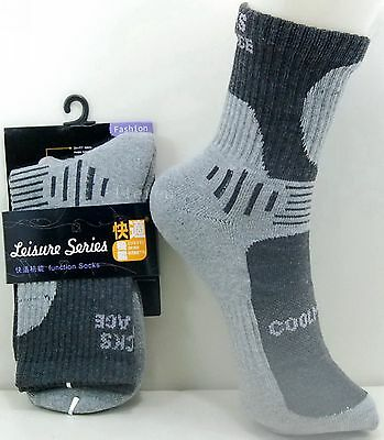 4 Pairs QuickDry Outdoor Hiking Sports Running Mens Womens Cotton Socks